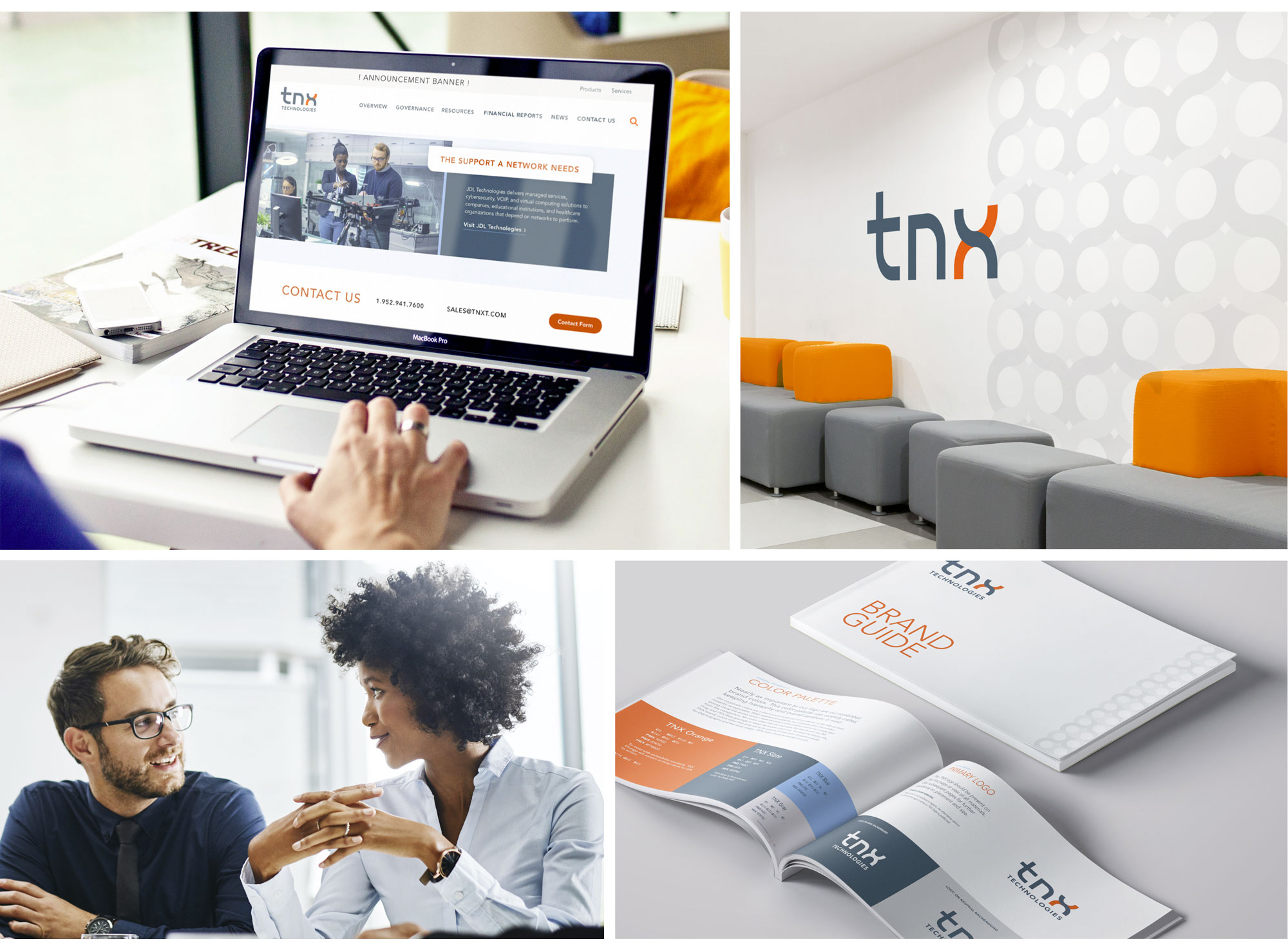 Examples of the TNX Technologies brand in use.