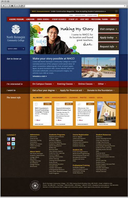 North Hennepin Community College Website