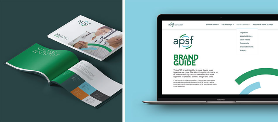 The APSF print and digital brand guidelines.